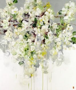 Those Blossoms You Gave So Freely 1, 2014, acrylic on canvas, 178 x 152 cm (Sold)