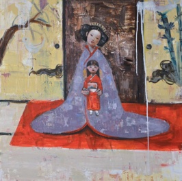 Birth of Love, 2012, oil on canvas, 92 x 92 cm