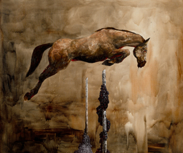 the Education of Pegasus: Glory Days, 2014, 152x182cm (Sold)