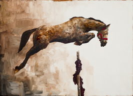 The Education of Pegasus: The Sinful Act, 2014, oil on linen, 152 x 213 cm (sold)