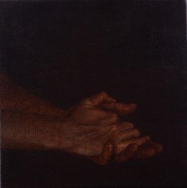 Les Mains Claires, 2014 oil on canvas, 30 x 30 cm