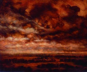 La lumière infinie, 2011, Oil on wood, 60 x 50 cm