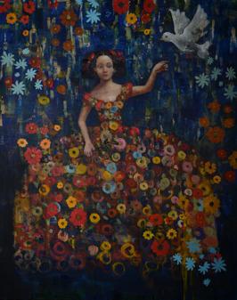 White Bird, oil on canvas, 152 x 122 cm, 2015 (Sold)
