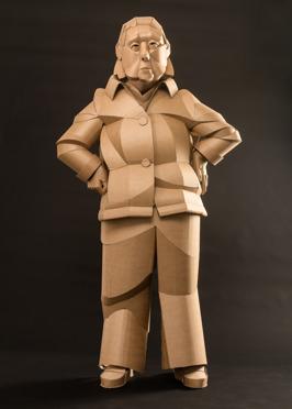 Shaoxing Woman Neighbor, life-sized, cardboard and glue, 2014