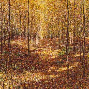 Autumn, Bruce Trail Near Caledon (Small Version), 2011,  acrylic on canvas, 122 x 122 cm (Sold)