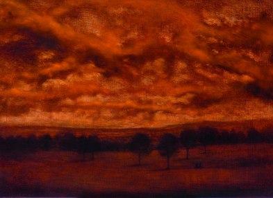 Les deux amis en chemin, 2011, oil on wood, 50 x 70 cm (Sold)