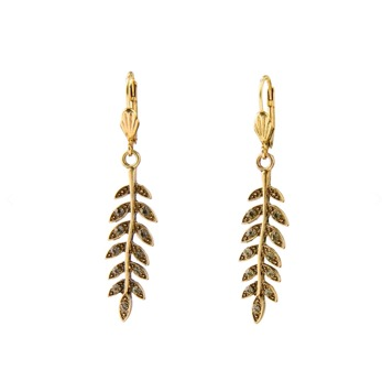 ByJolima Leaf earrings gold - One size