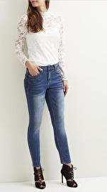 Object Abby medium blå jeans