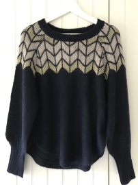 Culture Johanne jumper marin