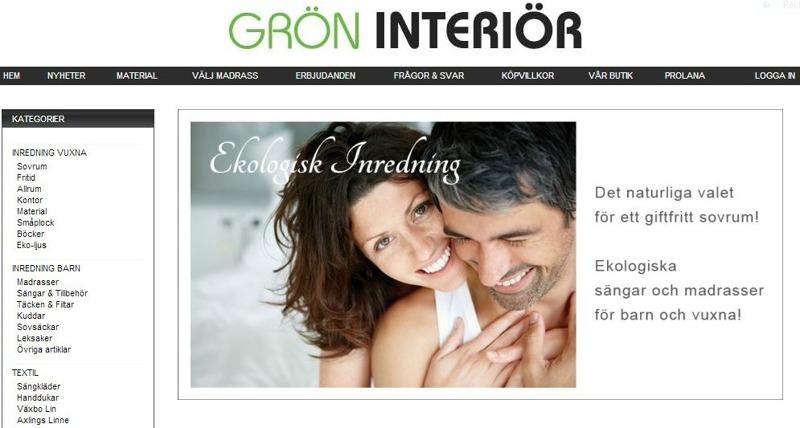 Grön interiörs ekologiska produkter