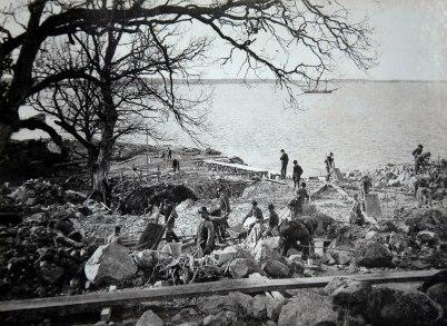 8. Schaktning för renseriet 1910 04 14