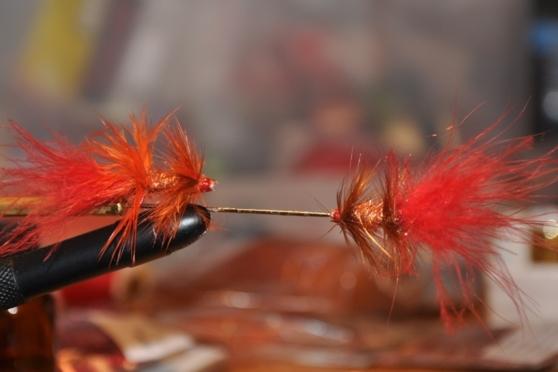 """""""Susa"""" röd-orange och brun-röd"""