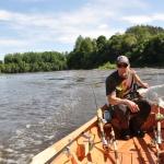 Finland: Kimmo guidar båtfiske på Kokemäenjoki