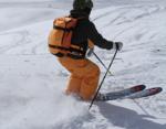 Nocopy skidor RUSH ROCKER, FR22 ryggsäck & Freeride X skalbyxor. Åkare Rai.