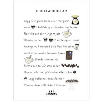 Chokladbollar - Nytryck! - Nytryck Chokladbollar