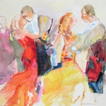 Dance - aquarelle collage