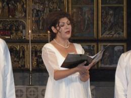 Divna (Serbien) gav konsert i Vadstena Klosterkyrka