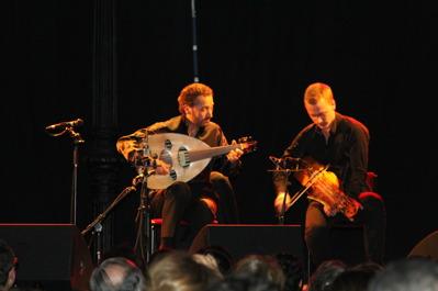 Naseer Shamma och Erik Rydvall på Kägelbanan