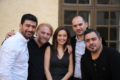 Sinan Slewa, Mousa Elias,  Ilona Danho, Feras Sharestan och Forat Fadhel Hussain