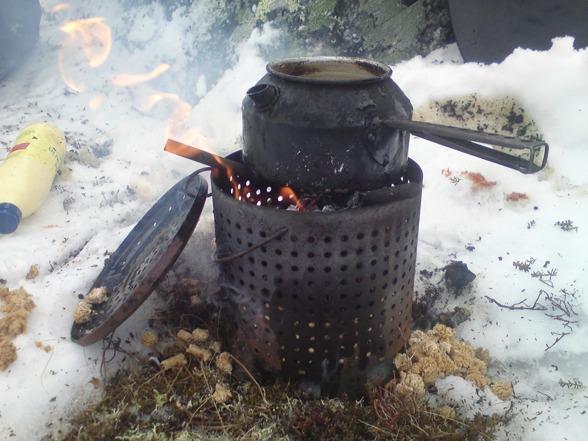 Kaffepannen gick ofta varm....