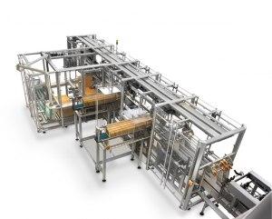 En av Meypack's maskiner hos Altia med prefabricerade partitions inserters.