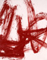 """""""Red scribble 3"""" 200x154 cm oil on canvas Anders Kumlien 2013."""