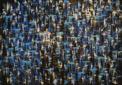 """Blue scrape"", 140x200 cm, oil on canvas, Anders Kumlien 2013"