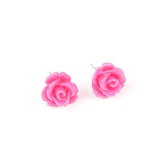 Örhängen med lila ros