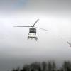 Vid stora jobb kan flera helikoptrar användas