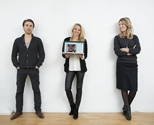 The founding team of Solen, Tove and Janna