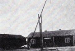 Gammelgårdens ursprungliga plats i Norra Skoga, kallades Petterstugan
