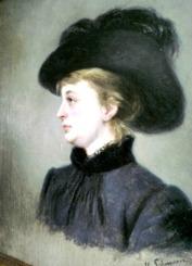 Signe i Paris 1883 målad av Hulda Schenson