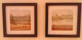 Landskap x 2 (akvarell)