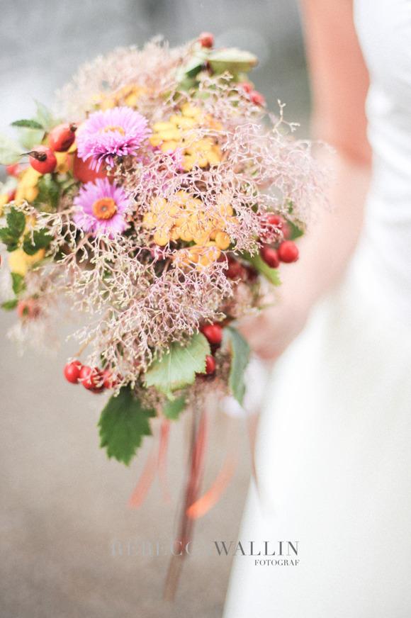 Höstbukett, bröllop
