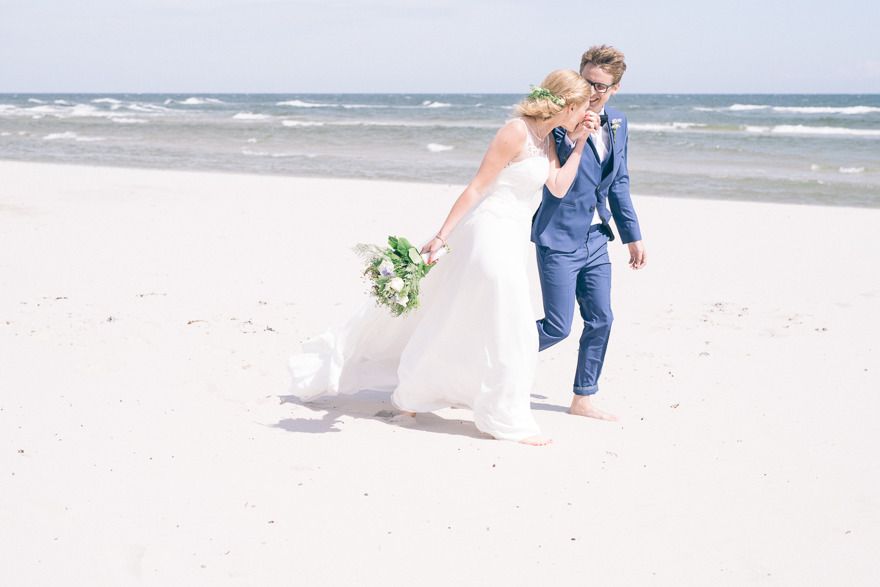 Bröllopsfotografering på Sandhammaren, Österlen