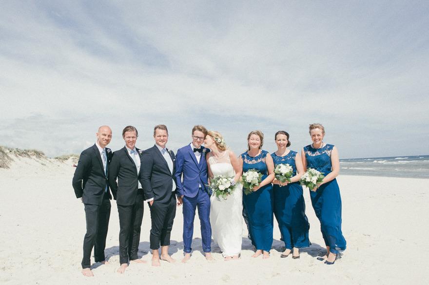 Bröllopsfotografering på Sandhammaren