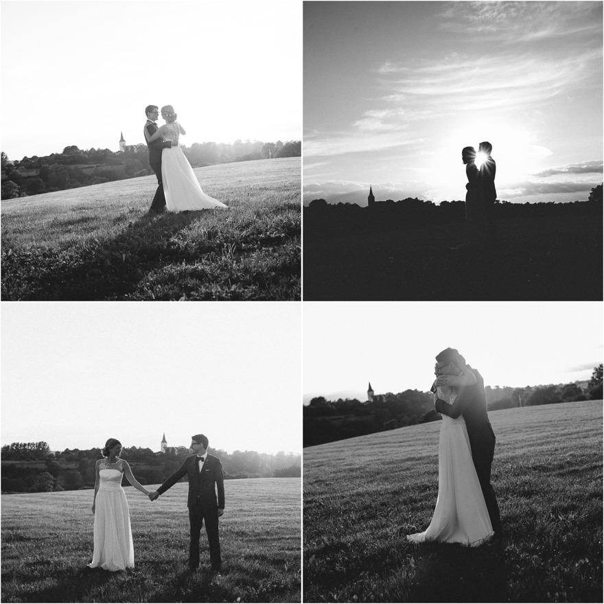Bröllopsfotografering i kvällssol på Österlen