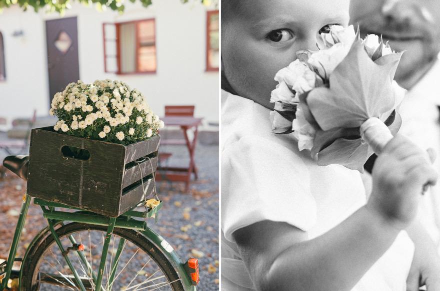 Brudtärna med bukett på Blåsingsborg, Rebecca Wallin Österlen
