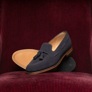 Lincoln Navy Suede