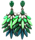 Serpentine Earrings (Green)