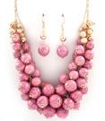 Halsband - Multi Dangle Pearl /Pink