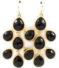 Delicious Drop Earrings / Black