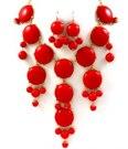 Rött bubble necklace (EJ MED ÖRHÄNGEN)