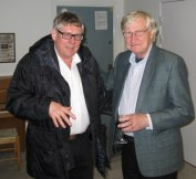 Två pristagare: Ingemar Unge 2011 och Kurt Mälarstedt 2008 (foto Mats Edholm)