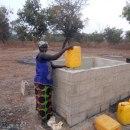 Women helping in providing water