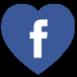 Facebook heart shaped free social media icon