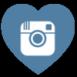 instagram heart shaped free social media icon