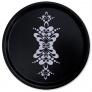 Bricka rund med kurbits - Rund bricka kurbits 45 cm svart