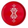 Bricka rund med kurbits - Rund bricka kurbits 45 cm röd