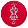 Grytunderlägg 21 cm med kurbits - Grytunderlägg 21 cm röd